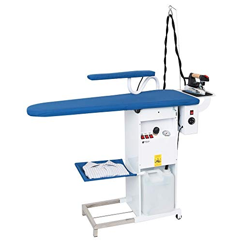 EOLO Tabla de Planchar Profesional con termoaspiración y Motor soplador con Caldera a Recarga automática y Plancha TS04 RA