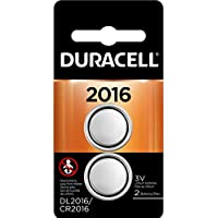 2-Count Duracell 2016 3V Lithium Coin Battery