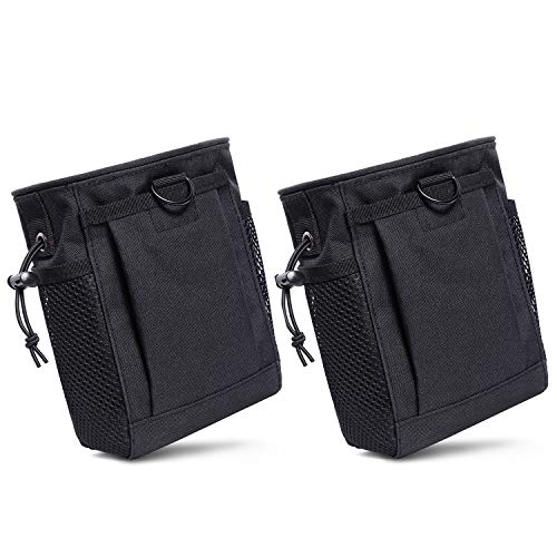 MeeJaa Molle Tactical Bag, Portable Drawstring Magazine Dump Pouch, Tactical Adjustable Military Utility Belt Holster Bag Ammo Pouch