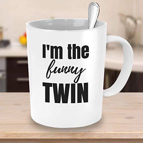 Taza de café familiar Im The Funny Taza gemela Regalos para gemelos para adolescentes Hermano gemelo Regalos para hermana gemela menores de 25 años Regalo para gemelos Taza para gemelos divertidos par