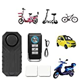 ZREAL 113dB Wireless Anti-Theft Vibration Motorcycle Bicycle Waterproof Security Bike Alarm with Remote