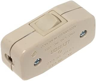 Leviton 5410-I 3Amp 125V Heavy Duty Feed Thru Rocker Appliance Switch, Ivory