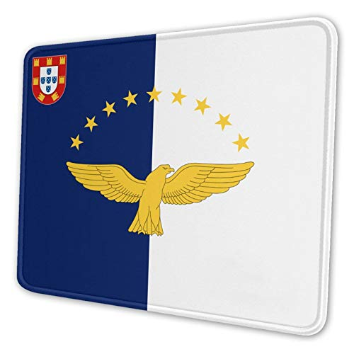 Flag of The Azores Gaming Mouse Pad Mousepad with Stitched Edges, Keyboard Pads Mat for Gamer Computer Office Home 7.9 X 9.5 in