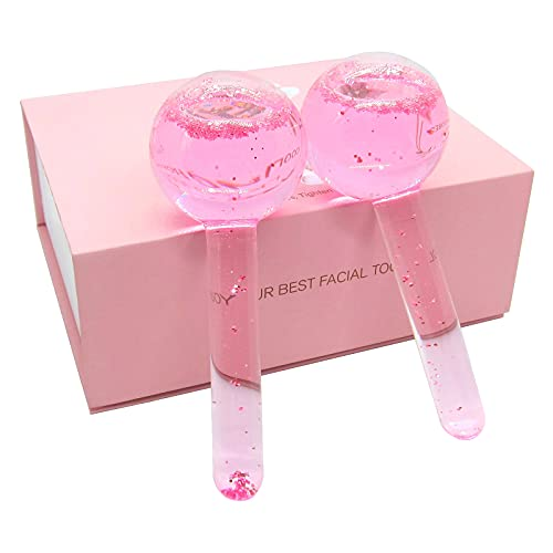 Cold Globes for Facials, 2Pcs Facial Globes Ice Beauty Balls, Skin Care Tools Ice Facial Roller, Reduce Dark Circles Wrinkles Puffiness Inflammation