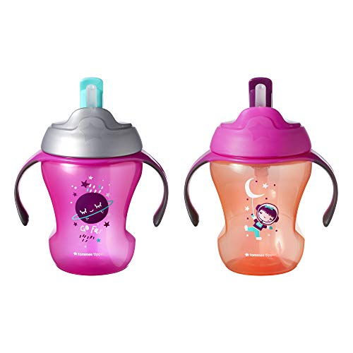 Tommee Tippee Trainer Flippee Straw Cup, Soft Straw, BPA-Free -8 Ounce, 2...