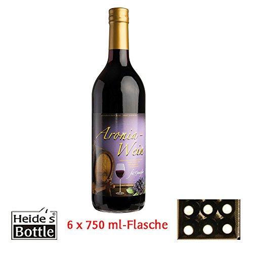Aronia-Wein 9,5% Alc, 6 x 0,75 l-Flasche - pfandfrei -