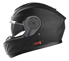 Kask motocyklowy Składany Kask Fullface Kask - Yema YM-926 Roller Helmet Crash Helmet z podwójną osłoną przeciwsłoneczną Ece dla kobiet mężczyzn Adult-Black Matt-M
