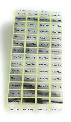 500 Etiquetas joyería Plata de Ley