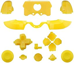 Matte ABXY Dpad Triggers Full Buttons Set Mod Kits for XBox One Elite Controller (Yellow)