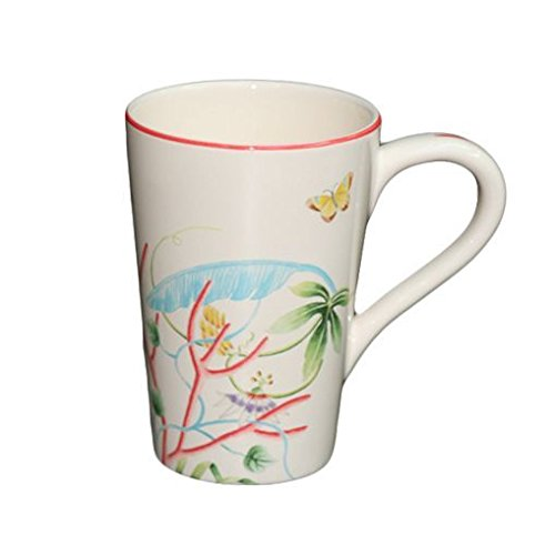 Faïencerie de Niderviller ~ Mug Extra Large Fleur de Corail 60cL faïence - Lot de 2