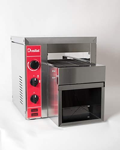 Professioneller Dosillet Buffet 2200 2200 W elektrischer Bandtoaster, einphasig, mit Widerstandskraft. Für alle Arten von PAN: Toasts, Bagels etc. Ideal für FRANQUICIAS und/oder SERVICE DELIVERY
