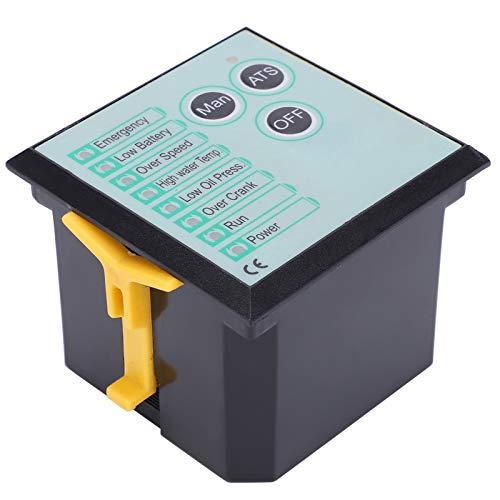 Fafeicy GTR17 Controlador de grupo electrógeno diesel, controlador de apagado de llama de plástico, diodo de rueda libre incorporado, para precalentamiento, control de velocidad de ralentí