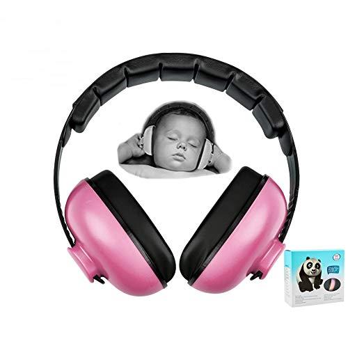 Casque anti-bruit pour bébé de 3 mois à 2 ans Rose