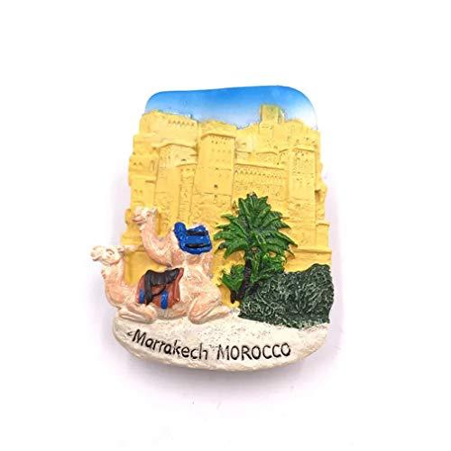 Bella Magnet für Kühlschrank Kühlschrankmagnete Urlaubs-Souvenir Reise Souvenir Marrakesch Marokko Fridge Magnet Sticker Decor Haus