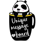 Memo Message Board - Decorative Chalkboard Alternative! Easy Clean For Home or Business. Hang or Stand (Easel). For Wedding Baby Shower Menu Bar Signs Notes Lists Reminders or Display