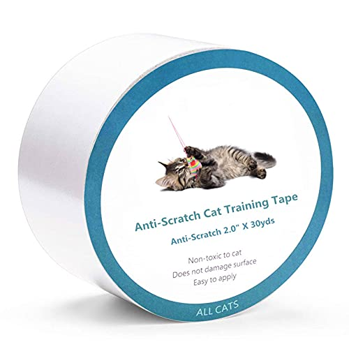 Unmbo Anti Arañazos Cinta De Entrenamiento para Gatos Disuasoria, Flexible Protector De Muebles Gatos Transparente Doble Cara Tiras Adhesivas De Entrenamiento De Gatos -4pulgada*30Yardas