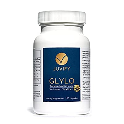 Juvify - GLYLO - Anti-Aging Weight Management Pill - Aids Intermittent Fasting, Controls Cravings, Blood Sugar, Curbs Appetite - Daily Micronutrient Pills to Support Vitality & Healthy Aging - 60 Caps