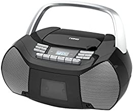 NAXA Electronics NPB-268 Portable CD/Cassette Boombox (Silver/Black)