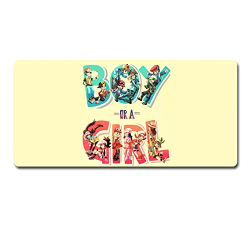 Wtbew-u XXL Mousepad,Gaming Mauspad, Pokemon Mauspad Anwenden Anime Mauspad Große Mauspad Gamer Große Maus Matte Computertisch Matte XXL Keyboard Pad (60 cm30cm) (Size : 60cm*35cm)