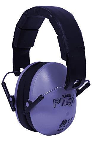 KiddyPlugs Kinder Kapsel Gehörschutz 8 Farben, Lärmschutz Kopfhörer Kinder, faltbar, größenverstellbar, weich gepolstert - für Kinder, Jugendliche und Erwachsene by (Lila)