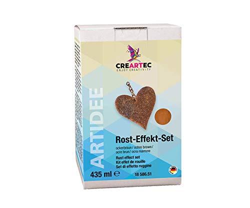 Artidee CREARTEC - Rost-Effekt-Set - Starter Set - zum Dekorieren von Gegenständen mit Einer oxidierten Eisenoptik - Ockerbraun - Made in Germany