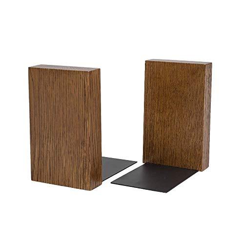 Bücherhalter für Regal minimalistisches Design | Moderner Buch Winkel aus Holz und Blech | Buch Halterung aus natürlichem Holz HYKKE | 100% ECO | Made in EU (Nussbaum)