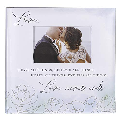 Malden International Designs 2 Up 4x6 Photo Album With Memo Writing Area Love Never Ends Watercolor Cover Book Bound White