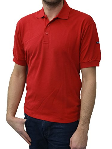 Armor Lux-Polo Marin-Manches Courtes-Homme-Couleur: Braise-Taille: 2