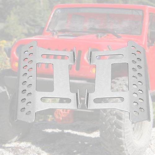 RC Auto Pedalplatte, 1 Paar Aluminiumlegierung Side Foot Pedalplatten Axial Footplate Ersatzteile für SCX10 1/10 RC Auto(Silber)