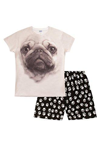 ThePyjamaFactory Mädchen Schlafanzug Schwarz schwarz Gr. 13-14 Jahre, schwarz