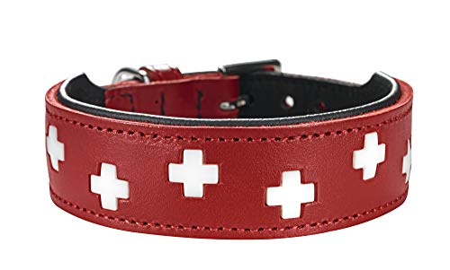 HUNTER Swiss Plus Hundehalsband,Leder, rot, 65