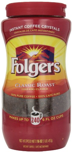 Folgers Instant Coffee Crystals