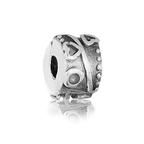 Andante-Stones 925 Sterling Silber Bead Clip Stopper Charm