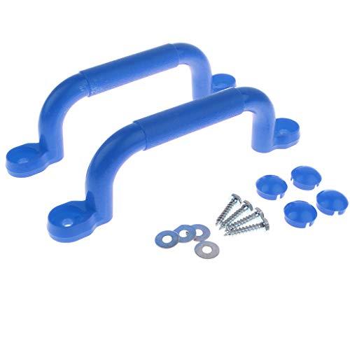 Homyl 1 Paar hochwertige Haltegriffe Handläufe für Klettergerüste, Baumhäuser und Spielhaus - Blau