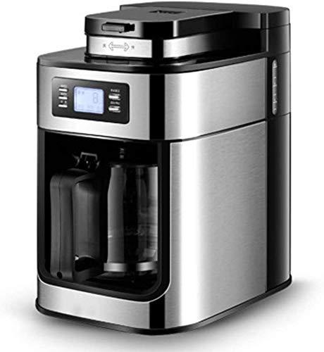 Roestvrij staal koffie-volautomaat 1,2 liter LCD-scherm geschikt for zowel Beans and Powder Warmhoudfunctie Espresso WKY