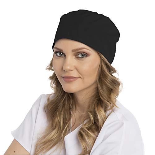 Owlet Premium OP-Haube, OP-Kappe, Kopfhaube, Scrubs, Bandana, Medical Cap - Classics, mehrere Farben (schwarz)