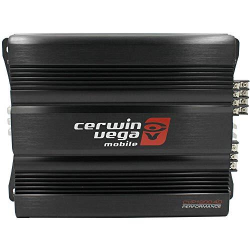 Cerwin Vega CVP1200.4D CVP Series 4-Channel Class-D Amplifier (600W RMS) + Free LAB Sticker