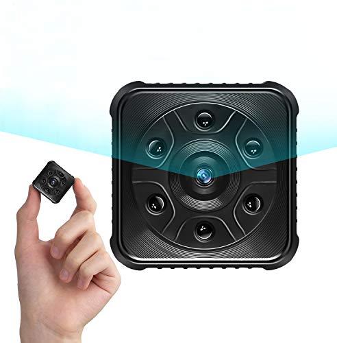 Mini Kamera, PiAEK 1080P HD Überwachungskamera,Tragbare WLAN IP Kamera mit Bewegungserkennung und Infrarot Nachtsicht