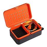 Caja De Pesca 1 unids Cait en Vivo Caja de Almacenamiento Contenedores 2 Compartimentos Worm Lure Plástico Box Fly Bass Tilapia Aparejos de Pesca de...