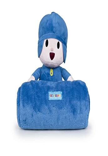 Pocoyo Plush y Blanket, Unitalla, Azul