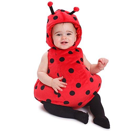 Dress Up America- Bambine Vestito da Coccinella Costume da Bebè, Multicolore, 0-6 Mesi (Peso 3.5-7 kg, Altezza 43-61 cm), 866