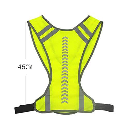Safety Vest, Gilet de sécurité réfléchissant Haute visibilité réglable pour Les Sports de Plein air, vélo, Course, randonnée, Moto, vélo