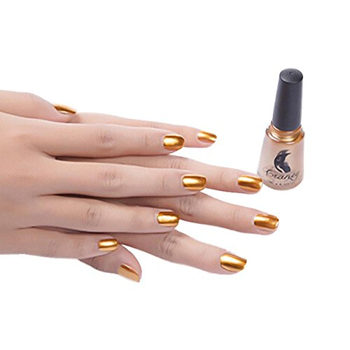 Coolster Nagellack Top Coat Nail Lightener Spiegel Metall Farbe Nail Lack Gel -Gold
