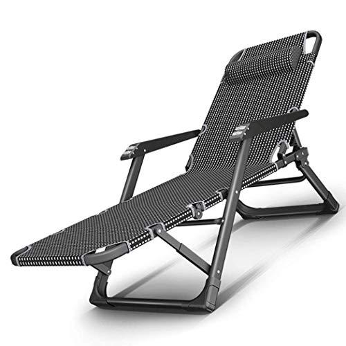 Juegos de muebles de jardín de alta resistenciaTumbonacámpingSillas de jardín Plegable Zero Gravity Tumbona Reclinable Reclinable Impermeable Chaise Tumbonas Metal para oficina al aire libre