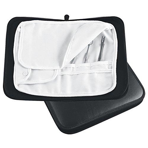 Fußpflege Etui - Podologie Aufbewahrungs Tasche Leer- Instrumententasche mit Inlett Fußpflegetasche-Maniküre&Pediküre Kosmetik Instrumente Tasche