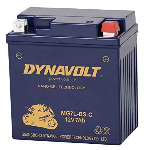 Dynavolt MG7L-BS-C (YTX7L-BS) Nano-GEL Batterie LxBxH: 113x69x130mm
