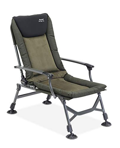 Anaconda_P876C_black Unisex – Erwachsene Anaconda Rock Hopper Carp Chair (Karpfenstuhl/Campingstuhl), Schwarz-Grau-Grün, Sitzfläche: ca. 50 x 50 cm