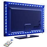 Tira LED TV 2.2M, OMERIL 5050 Tiras LED USB Impermeable con Control Remoto, 16 RGB Colores...