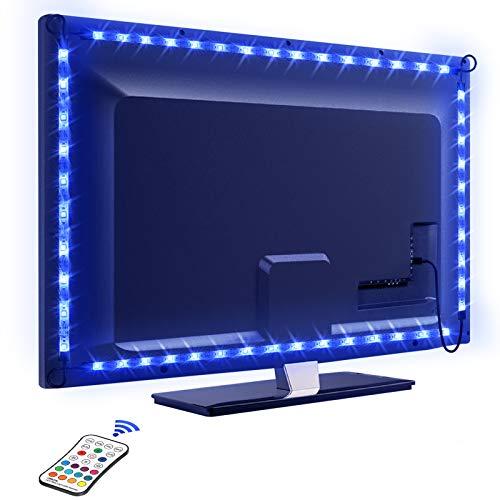 LED TV Lightstrip 2.2M, OMERIL Bandes LED 16 Couleurs et 4 M