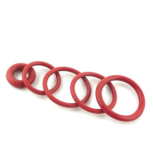 NO LOGO W-NUANJUN-springring, 20 stuks 3 mm dik rode O-ring Seals 60/62/65/68/70/72/75/80/85/90/95 mm OD siliconen hittebestendigheid O-ring Seals wasmachine, oogje (afmetingen: 62 x 56 x 3 mm)